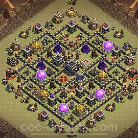 TH9 War Base Plan with Link, Copy Town Hall 9 Design 2020, #28