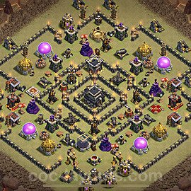 TH9 Anti 3 Stars War Base Plan with Link, Copy Town Hall 9 Design 2020, #29