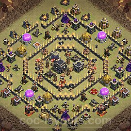 TH9 Anti 3 Stars War Base Plan with Link, Copy Town Hall 9 Design 2021, #36