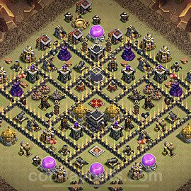 TH9 Max Levels War Base Plan with Link, Copy Town Hall 9 Design 2021, #38