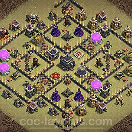 TH9 Anti 3 Stars War Base Plan with Link, Copy Town Hall 9 Design 2021, #41