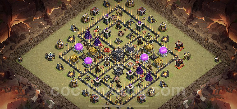 TH9 Anti 3 Stars War Base Plan with Link, Copy Town Hall 9 Design 2020, #33