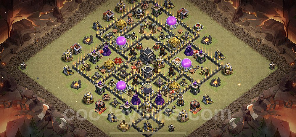 TH9 War Base Plan with Link, Copy Town Hall 9 Design 2020, #35