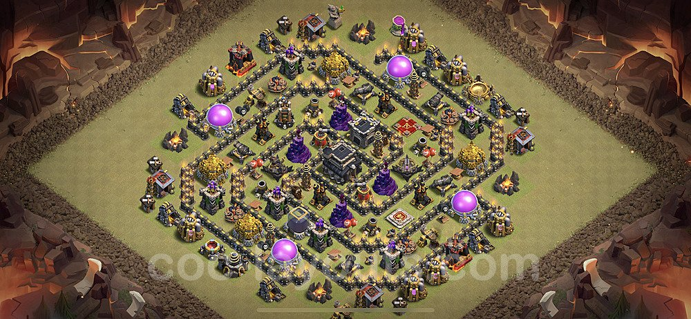 TH9 War Base Plan with Link, Copy Town Hall 9 Design 2021, #50