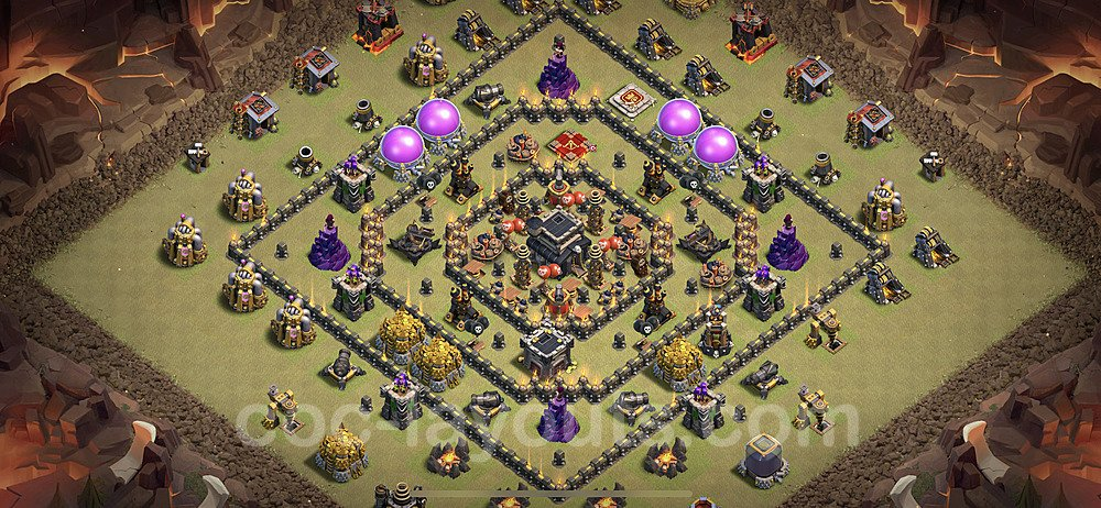 Die Maximal Clan War Base RH9 + Link 2021 - COC Rathaus Level 9 Kriegsbase (CK / CW) - #54