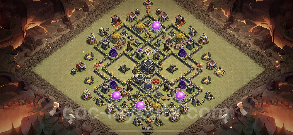 TH9 Max Levels War Base Plan with Link, Copy Town Hall 9 Design 2020, #7